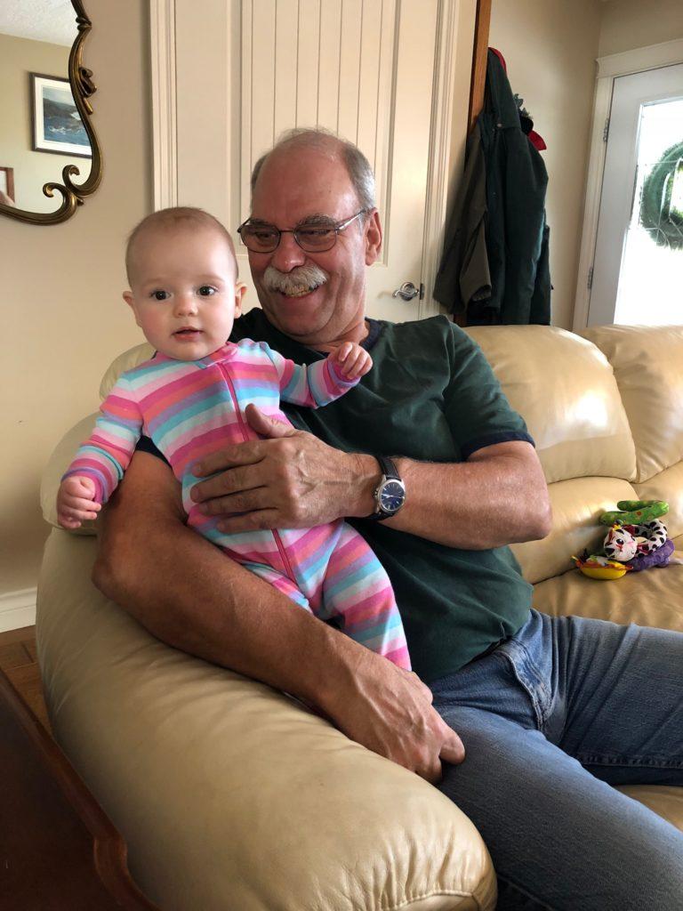 Eileen with Grandpa Shivas