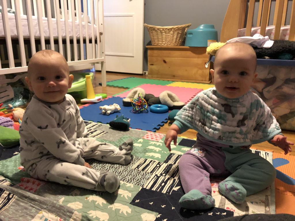 Ewan and Eileen sitting