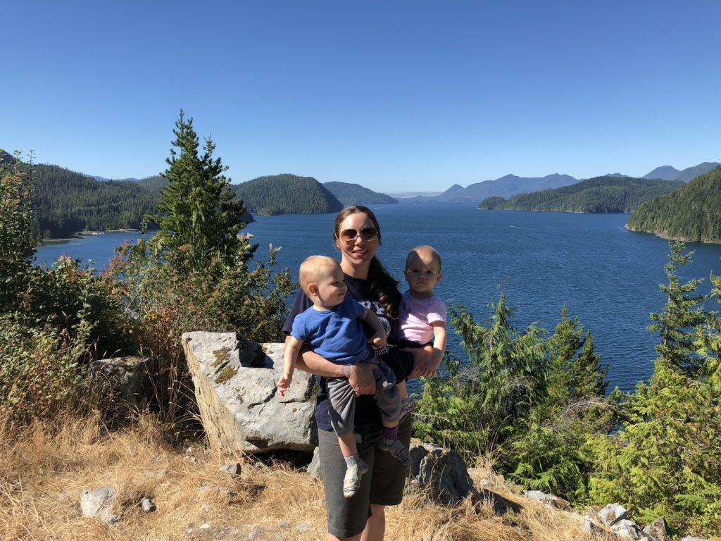 Janet Eileen & Ewan Overlooking Nootka Sound
