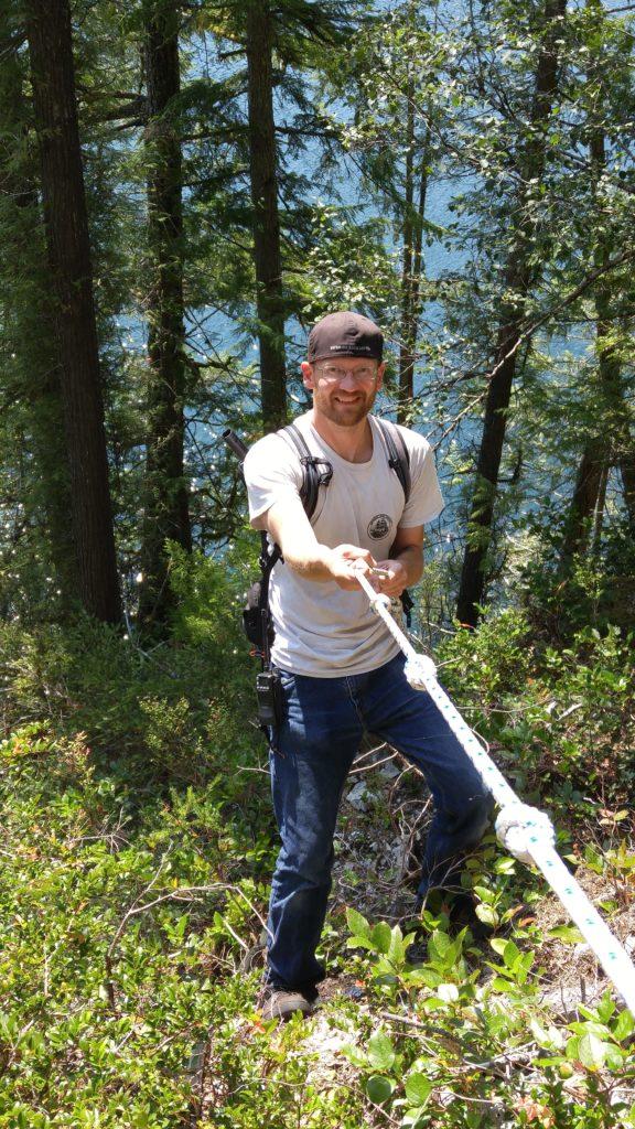Kyle descending rope ladder